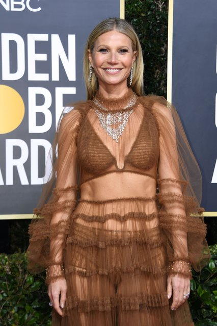 Actress Gwyneth Paltrow arrives for the 77th annual Golden Globe Awards on January 5, 2020, at The Beverly Hilton hotel in Beverly Hills, California. (Photo by Valerie Macon/AFP Photo)