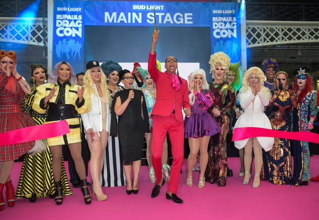 RuPaul Charles officially opens the first ever RuPaul's DragCon UK presented by World Of Wonder at Olympia London on January 18, 2020 in London, England. (Photo by David M. Benett/Dave Benett/Getty Images for World Of Wonder Productions)