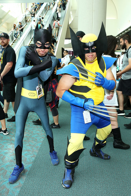 Fans dressed in cosplay attend 2017 Comic-Con International on July 23, 2017 in San Diego, California. (Photo by Phillip Faraone/Getty Images)