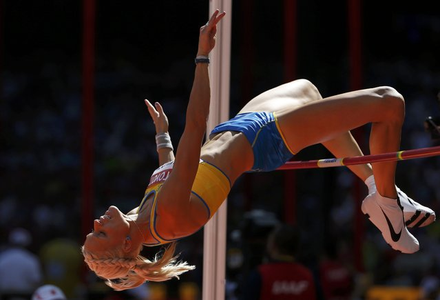 Erika Kinsey of Sweden competes in the women's high jump qualifying round during the 15th IAAF World Championships at the National Stadium in Beijing, China, August 27, 2015. (Photo by Phil Noble/Reuters)