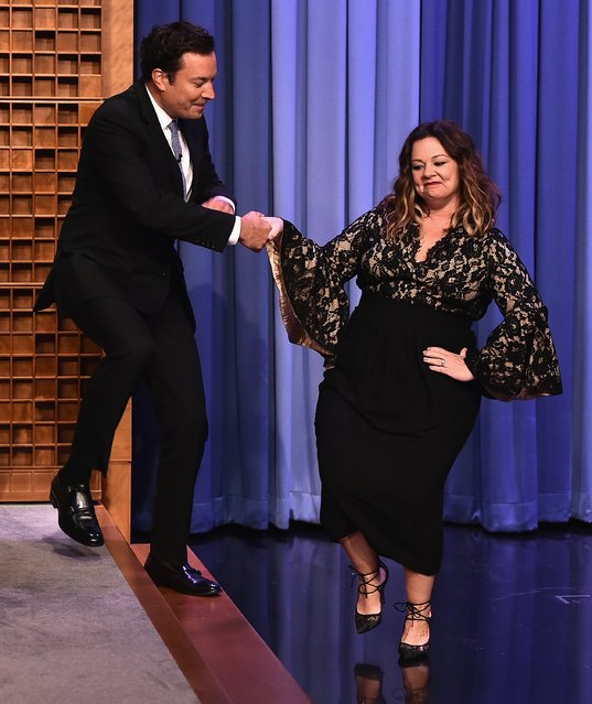 "Melissa McCarthy Visits ""The Tonight Show Starring Jimmy Fallon"" at Rockefeller Center on July 12, 2016 in New York City. (Photo by Theo Wargo/Getty Images for NBC)"