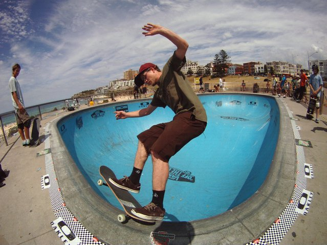 """Poolside at Bondi Beach! by Dean Cook. Skateboarding session at the pool at Bondi Beach"". (Photo by Dean Cook)"