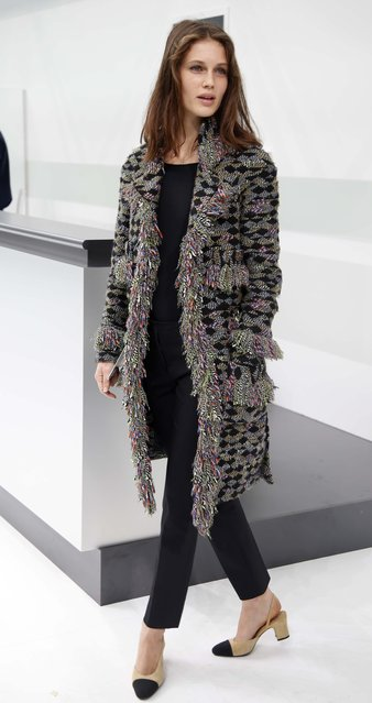 French actress Marine Vacth poses before the Spring/Summer 2016 women's ready-to-wear collection for fashion house Chanel at the Grand Palais which is transformed into a Chanel airport during the Fashion Week in Paris, France, October 6, 2015. (Photo by Charles Platiau/Reuters)