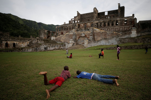Boys play in the gardens of the remains of Sans-Souci Palace in Milot, Haiti on September 8, 2017. (Photo by Andres Martinez Casares/AP Photo)