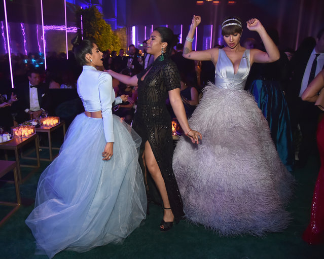 Diane Guerrero, Jessica Pimentel and Jackie Cruz attends People and EIF's Annual Screen Actors Guild Awards Gala sponsored by TNT and L'Oreal Paris at The Shrine Auditorium on January 21, 2018 in Los Angeles, California. (Photo by Kevin Mazur/Getty Images for People Magazine)