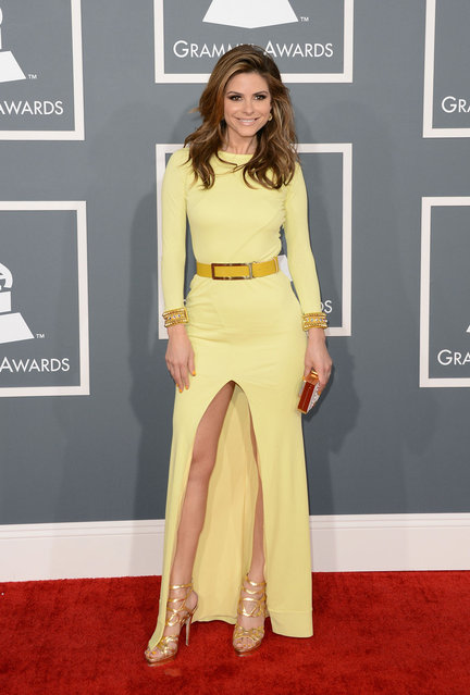 Maria Menounos arrives at the 55th Annual Grammy Awards at the Staples Center on February 10, 2013 in Los Angeles, California. (Photo by Dan MacMedan/WireImage)