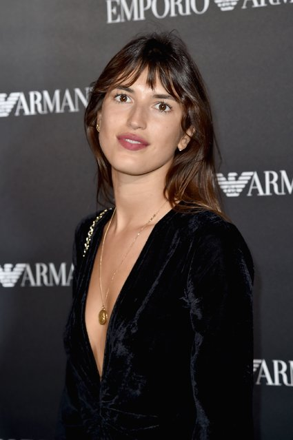 Jeanne Damas attends the Emporio Armani show as part of the Paris Fashion Week Womenswear Spring/Summer 2017  on October 3, 2016 in Paris, France. (Photo by Pascal Le Segretain/Getty Images)
