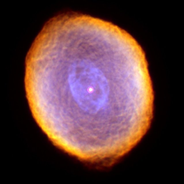 Planetary nebula IC 418, known as the Spirograph Nebula, located 2,000 light years from Earth, is seen in this photo from the Wide Field Planetary Camera 2 aboard NASA's Hubble Space Telescope. (Photo by Dr. Raghvendra Sahai and Dr. Arsen R. Hajian/AP Photo/NASA/The Hubble Heritage Team)