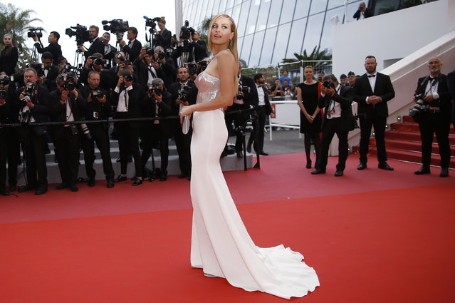 Petra Nemcova poses as she arrives for the screening of the film Sorry Angel (Plaire, aimer et courir vite) May 10, 2018 during the 71st annual Cannes Film Festival in Cannes, France. (Photo by Stephane Mahe/Reuters)