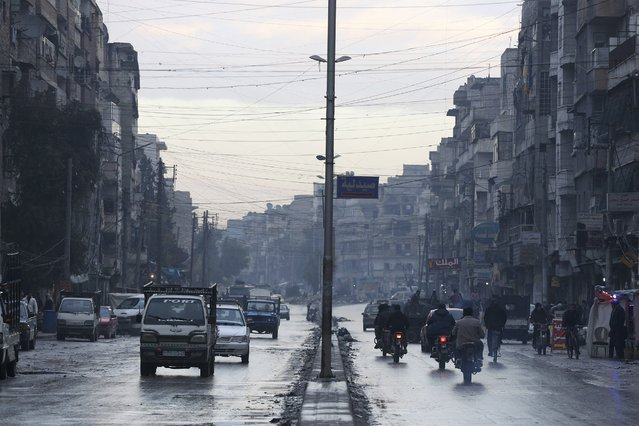 A general view shows a street in a rebel-held area of Aleppo January 2, 2015. (Photo by Nour Kelze/Reuters)