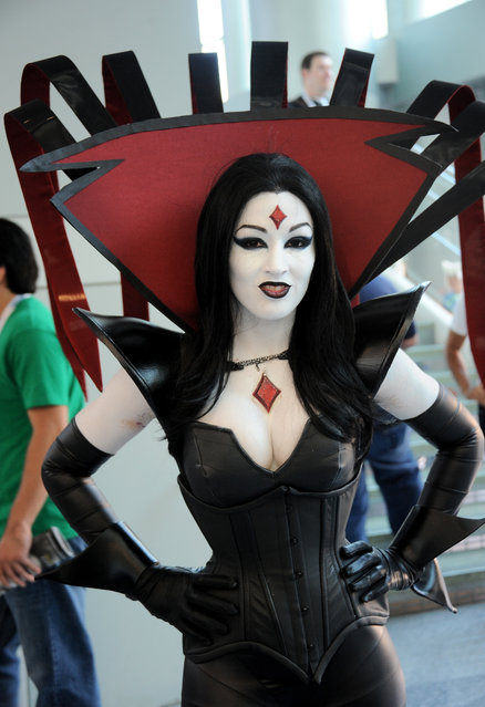 Cosplayer dressed as Mr. Sinister from X-Men attends day 2 of WonderCon Anaheim 2015 held at Anaheim Convention Center on April 4, 2015 in Anaheim, California. (Photo by Albert L. Ortega/Getty Images)