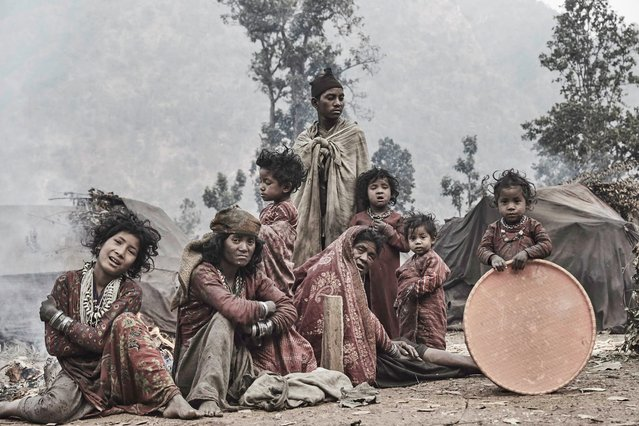 The Raute people are nomadic and move between camps based on the seasons in Accham District, Nepal, January 2016. (Photo by Jan Moller Hansen/Barcroft Images)
