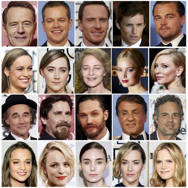 Oscar nominees are shown in this combination of file photos. It is not just the Oscars that have a diversity problem. Women, minorities and the LGBT community are vastly under-represented throughout Hollywood, according to a report published on Monday ahead of the Academy Award ceremony. (Photo by Reuters/Staff)