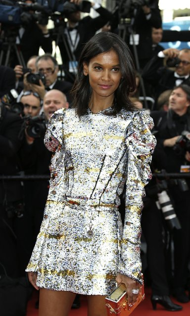 Model Liya Kebede poses for photographers at the opening ceremony and the screening of the film La Tete Haute (Standing Tall) at the 68th international film festival, Cannes, southern France, Wednesday, May 13, 2015. (Photo by Thibault Camus/AP Photo)