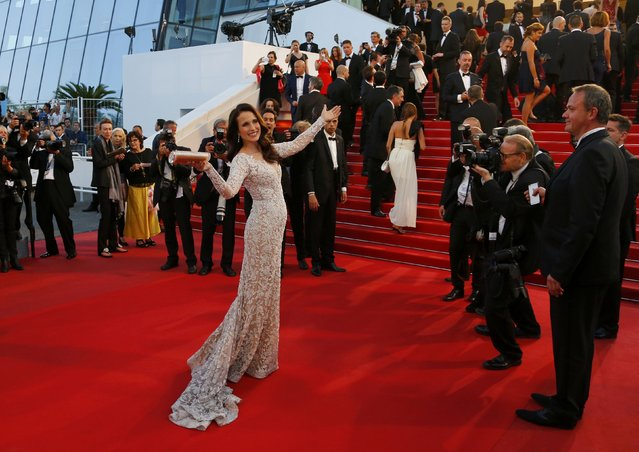 "Actress Andie MacDowell poses on the red carpet as she arrives for the screening of the film ""The Sea of Trees"" in competition at the 68th Cannes Film Festival in Cannes, southern France, May 16, 2015. (Photo by Yves Herman/Reuters)"