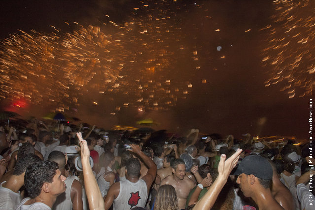 Brazilians Flock To Ocean For New Year's Eve Ritual