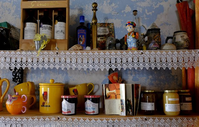 Preserves and collectors items are seen in the Chambre d'hôte hotel in Centres after the 13th stage of the Tour de France cycling race from Muret to Rodez, France, July 18, 2015. (Photo by Stefano Rellandini/Reuters)