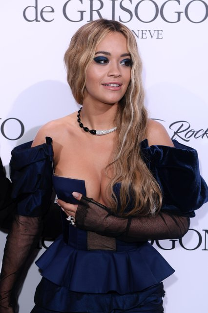 """Rita Ora attends the de Grisogono """"Love On The Rocks"""" party during the 70th annual Cannes Film Festival at Hotel du Cap-Eden-Roc on May 23, 2017 in Cap d'Antibes, France. (Photo by David Fisher/Rex Features/Shutterstock)"""