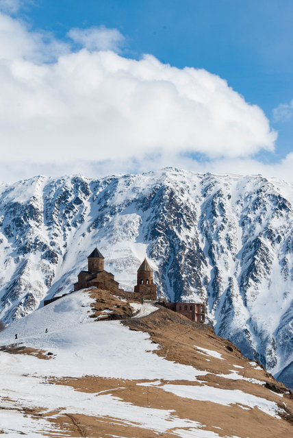 Shortlisted: Gergeti Trinity Bell Tower, Georgia by Iuliia Pasechnaia. (Photo by Iuliia Pasechnaia/Historic Photographer of the Year Awards 2019/The Guardian)