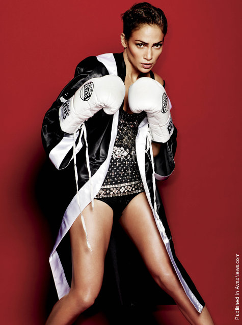 Jennifer Lopez In Mario Testino Boxing Shoot