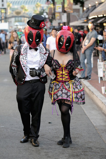 Cosplayers at 2017 Comic-Con International on July 20, 2017 in San Diego, California. (Photo by Quinn P. Smith/Getty Images)