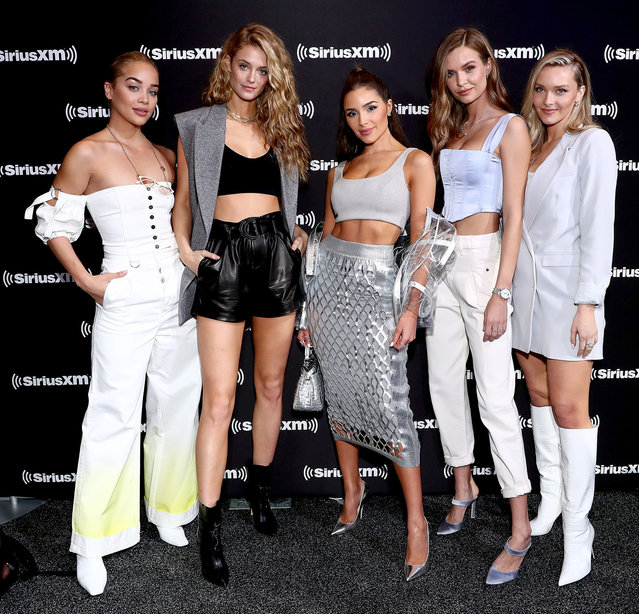 (L-R) SI Models Jasmine Sanders, Kate Bock, Olivia Culpo, Josephine Skriver, and Camille Kostek attend day 3 of SiriusXM at Super Bowl LIV on January 31, 2020 in Miami, Florida. (Photo by Cindy Ord/Getty Images for SiriusXM)