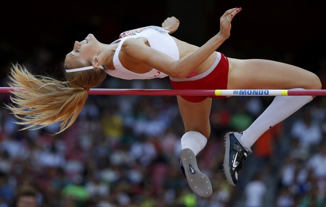 Kamila Licwinko of Poland competes in the women's high jump qualifying round during the 15th IAAF World Championships at the National Stadium in Beijing, China, August 27, 2015. (Photo by Phil Noble/Reuters)
