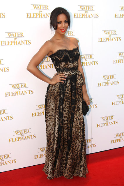 LONDON, ENGLAND - MAY 03:  (UK TABLOID NEWSPAPERS OUT) Rochelle Wiseman attends the UK premiere of Water for Elephants at the Vue Westfield on May 3, 2011 in London, England.  (Photo by Dave Hogan)