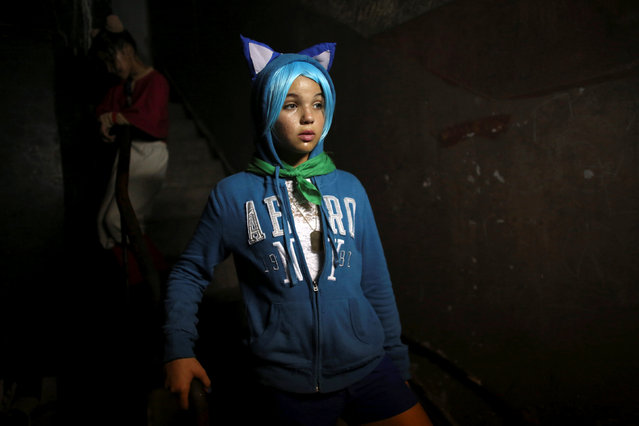 Melissa March, 13, is seen backstage during the Cuban Otaku festival in Havana, Cuba, July 24, 2016. (Photo by Alexandre Meneghini/Reuters)