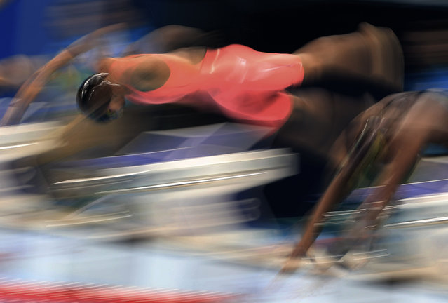 2016 Rio Olympics, Swimming, Preliminary, Women's 100m Breaststroke, Heats, Olympic Aquatics Stadium, Rio de Janeiro, Brazil on August 7 2016. Yulia Efimova (RUS) of Russia competes. (Photo by Dominic Ebenbichler/Reuters)
