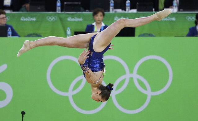 2016 Rio Olympics, Artistic Gymnastics, Final, Women's Individual All-Around Final, Rio Olympic Arena, Rio de Janeiro, Brazil on August 11, 2016. Louise Vanhille (FRA) of France competes on the floor during the women's individual all-around final. (Photo by Mike Blake/Reuters)