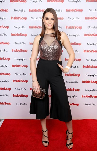 Anna Passey attends the Inside Soap Awards held at The Hippodrome on November 6, 2017 in London, England. (Photo by Mike Marsland/WireImage)