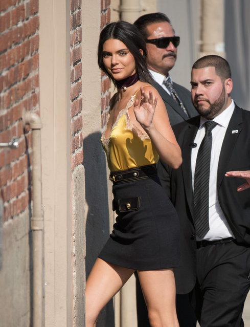 """Kendall Jenner is seen at """"Jimmy Kimmel Live"""" on August 25, 2016 in Los Angeles, California. (Photo by RB/Bauer-Griffin/GC Images)"""