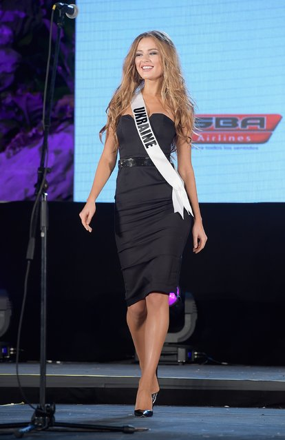 Miss Ukraine Diana Harkusha attends Miss Universe Welcome Event and Reception at Downtown Doral Park on January 9, 2015 in Doral, Florida. (Photo by Gustavo Caballero/Getty Images)