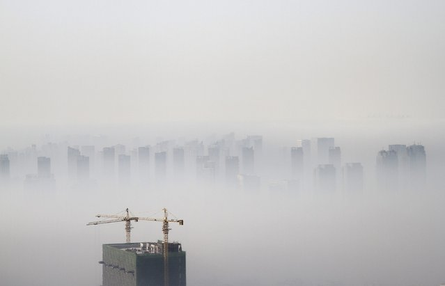 A building under construction is seen amidst smog on a polluted day in Shenyang, Liaoning province in this November 21, 2014 file photo. (Photo by Jacky Chen/Reuters)
