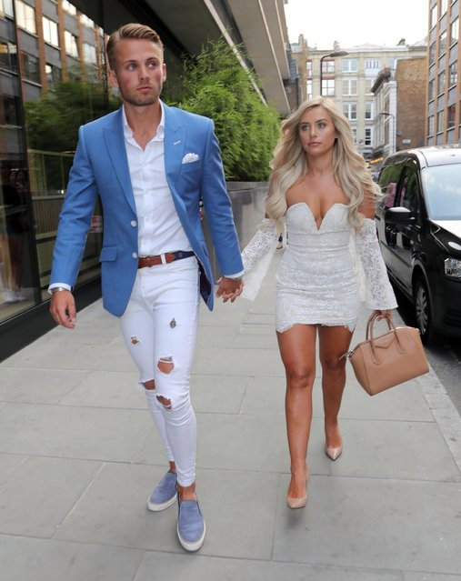 Charlie Brake and Ellie Brown seen attending the ITV Summer Party at Nobu Hotel in Shoreditch on July 19, 2018 in London, England. (Photo by The Mega Agency)