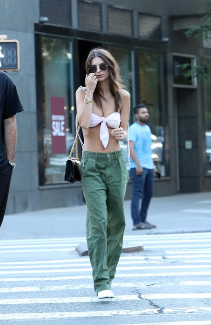 Emily Ratajkowski out and about, New York, USA on July 20, 2018. (Photo by Splash News and Pictures)