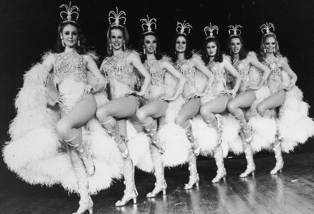 The Rockettes dancing on stage, circa 1970. (Photo by Hulton Archive/Getty Images)