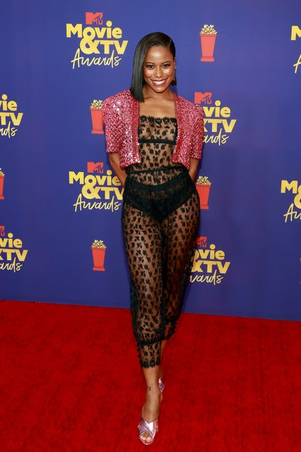 American actress and dancer Taylour Paige attends the 2021 MTV Movie & TV Awards at the Hollywood Palladium on May 16, 2021 in Los Angeles, California. (Photo by Matt Winkelmeyer/2021 MTV Movie and TV Awards/Getty Images for MTV/ViacomCBS)