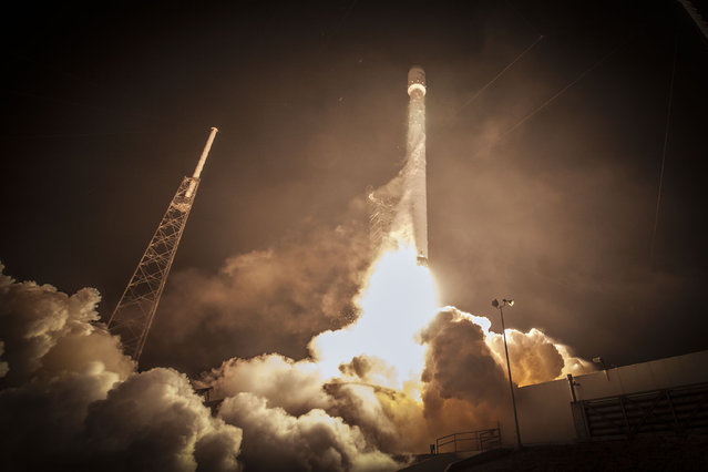 SpaceX's Falcon 9 rocket delivered the ABS 3A and EUTELSAT 115 West B satellites to a supersynchronous transfer orbit, launching from Space Launch Complex 40 at Cape Canaveral Air Force Station, Florida on Sunday, March 1, 2015 at 10:50pm ET. (Photo by SpaceX Photos)