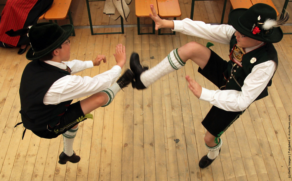 Bavarian Dance Competition In Huosigau