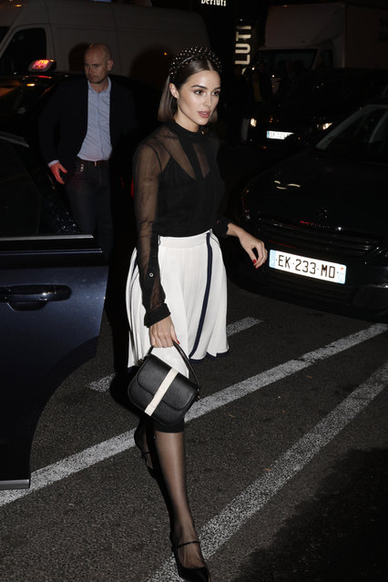 Model Olivia Culpo arrives at a party for Prada in Paris, Wednesday, February 27, 2019. (Photo by Thibault Camus/AP Photo)