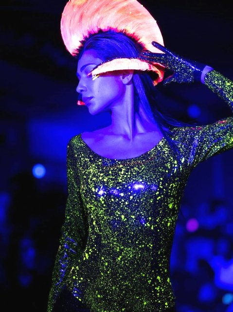 Paris Fashion Week, Spring/Summer 2014 Haute Couture collection by Charlie Le Mindu. (Photo by Yoan Valat/EPA)
