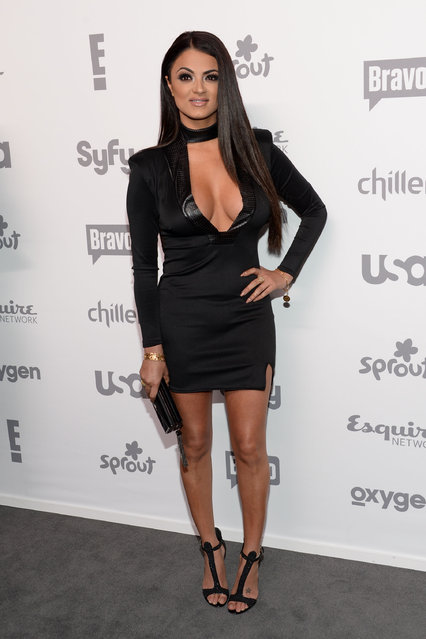 "Golnesa ""GG"" Gharachedaghi of ""Shahs of Sunset"" attends the NBCUniversal Cable Entertainment 2015 Upfront at The Jacob Javits Center on Thursday, May 14, 2015, in New York. (Photo by Evan Agostini/Invision/AP Photo)"