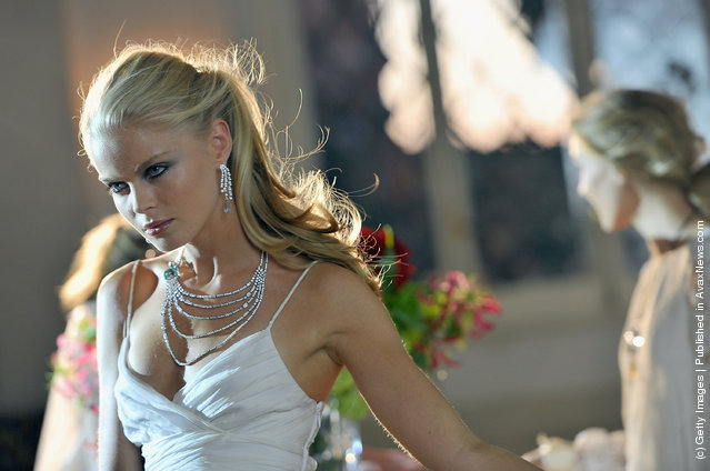 A model wears pieces of jewellery