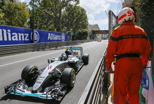 Mercedes Formula One driver Nico Rosberg of Germany drives during the Monaco Grand Prix, in Monaco May 24, 2015. (Photo by Robert Pratta/Reuters)