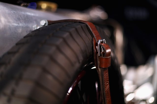 A detailed view of the MG P-type from 1934 during the The 40th Antwerp Classic Salon run by SIHA Salons Automobiles and held at Antwerp EXPO Halls on March 3, 2017 in Antwerpen, Belgium. (Photo by Dean Mouhtaropoulos/Getty Images)