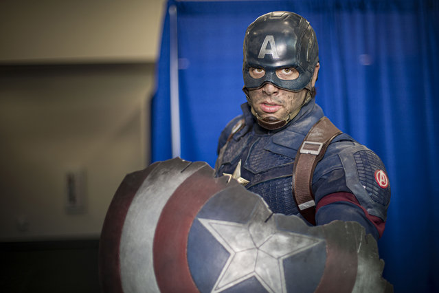Cosplayer Griffin Reina as Captain America poses at 2019 Comic-Con International on July 19, 2019 in San Diego, California. (Photo by Daniel Knighton/Getty Images)