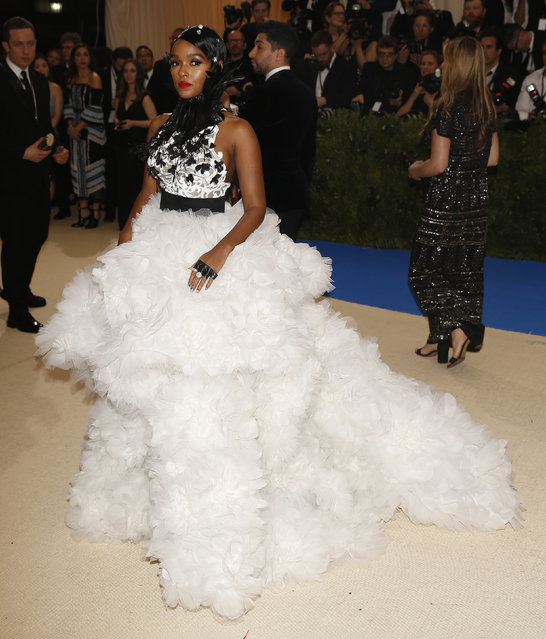 """Janelle Monae attends """"Rei Kawakubo/Comme des Garcons: Art Of The In-Between"""" Costume Institute Gala – Arrivals at Metropolitan Museum of Art on May 1, 2017 in New York City. (Photo by Carlo Allegri/Reuters)"""