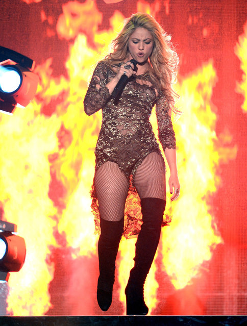 Singer Shakira performs onstage during the 2014 Billboard Music Awards at the MGM Grand Garden Arena on May 18, 2014 in Las Vegas, Nevada. (Photo by Ethan Miller/Getty Images)